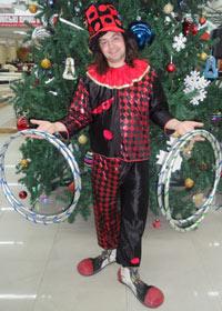 Черный, ромбиковый, клоунский костюм