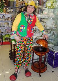 Клоунский фрак и штаны в горошек