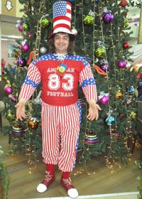 Клоунский американский костюм