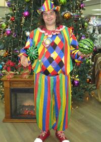 Клоунский костюм в полосочку